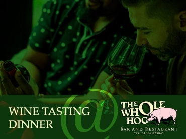 Wine tasting Dinner at The Whole Hog